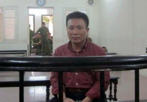 Bị cáo Hà Huy Hoàng tại tòa - Ảnh: Duy Khương