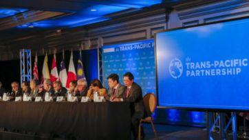 Đàm phán giữa 12 quốc gia tại Atlanta, Hoa Kỳ về TPP đã hoàn tất chính thức hôm 05/10/2015. Ảnh: EPA