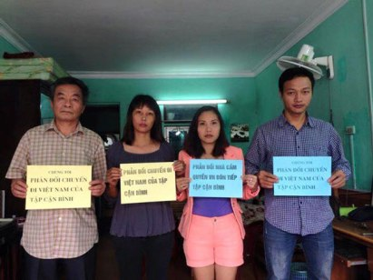 Người dân kêu gọi không hoan nghênh chuyến công du Việt Nam của chủ tịch Trung Quốc Tập Cận Bình vào tháng 11 tới đây. Citizen photo
