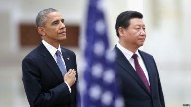 Hai ông Tập Cận Bình và Barack Obama ở Bác kinh hồi tháng 11, 2014. Photo: Getty.