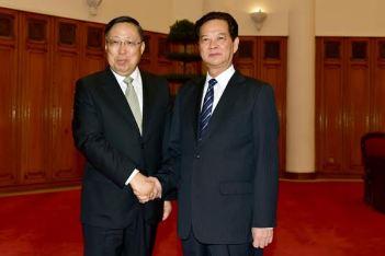 Thủ tướng Nguyễn Tấn Dũng và Bộ trưởng An ninh quốc gia TQ Cảnh Huệ Xương