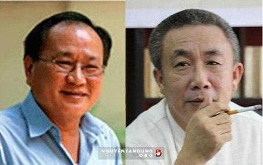 Blogger Hồng Lê Thọ (trái) và nhà văn Nguyễn Quang Lập