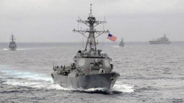 Tàu khu trục trang bị tên lửa dẫn đường USS Lassen trong khu vực Thái Bình Dương (ảnh do Hải quân Mỹ cung cấp). Nguồn: Reuters