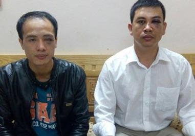 Luật sư Luân và Nam sau khi bị đánh. Ảnh: Tiền Phong.