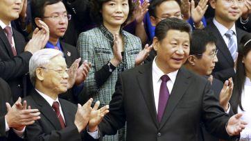 Nguyễn Phú Trọng và Tập Cận Bình. Nguồn: Reuters