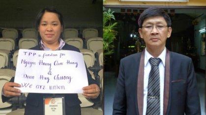 Cô Minh Hạnh và ông Minh Đức. Ảnh FB cá nhân