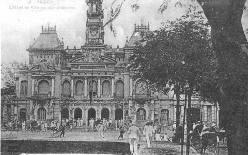 Ảnh Sài Gòn xưa. Nguồn: Việt Nam Quê Hương Tôi của Nguyễn Tấn Lộc