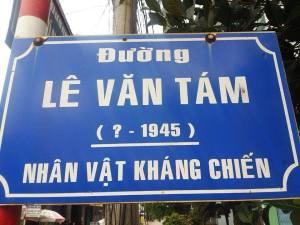 Tên đường Lê Văn Tám. Nguồn ảnh: blog Phọt Phẹt