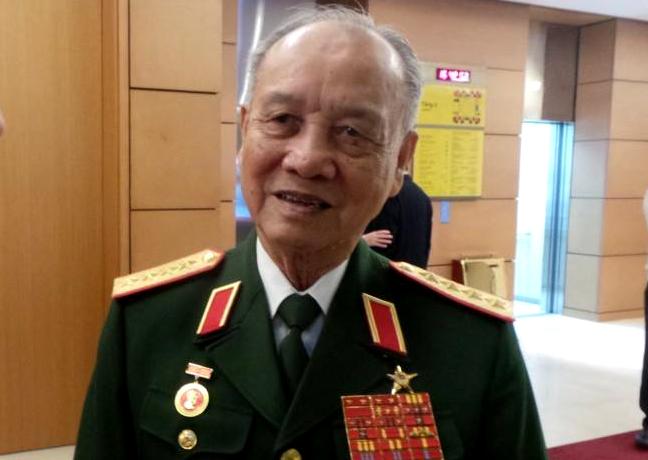 Đại tướng Phạm Văn Trà khuyến cáo cần bình tĩnh, tỉnh táo để đối phó tốt nhất với các diễn biến trên biển. Ảnh: Dân Trí