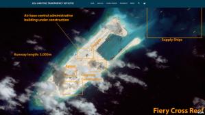 Ảnh do CSIS phân tích cho thấy những công trình xây dựng của Trung Quốc ở Biển Đông. Photo: VOA