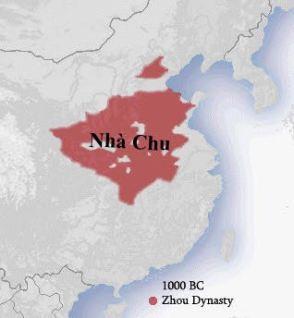 Bản đồ thời nhà Chu. Nguồn: internet