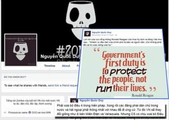 Một trong những post trên trang Facebook của Nguyễn Hữu Quốc Duy ở Cam Ranh