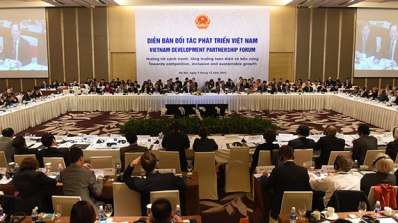 Diễn đàn Đối tác Phát triển tổ chức ngày 5/12 ở Hà Nội. Photo: World Bank