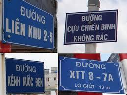 Tên đường lạ ở Sài Gòn. Nguồn: báo Thanh Niên