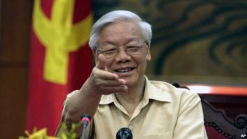Tổng bí thư Đảng cộng sản Việt Nam Nguyễn Phú Trọng. Ảnh: AP