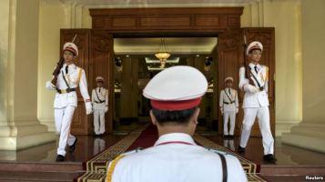 Trụ sở đảng Cộng sản Việt Nam tại Hà Nội. Ảnh: Reuters