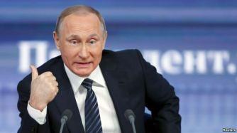 Tổng thống Nga trong cuộc họp báo cuối năm thường niên tại Moscow, ngày 17/12/2015. Ảnh: Reuters