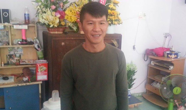 Việt Khang trả lời RFA sau 4 ngày được tư do. Photo: RFA