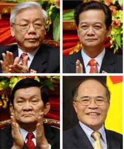 Tứ trụ triểu đình: Sang, Trọng, Hùng, Dũng... Nguồn: internet