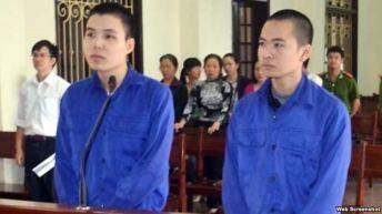 Hai thanh niên Nguyễn Đức Hảo, 21 tuổi, và Hoàng Anh Thư, 23 tuổi, trước tòa án nhân dân thành phố Hải Phòng (Ảnh chụp từ trang tinhaiphong) Hai thanh niên Nguyễn Đức Hảo, 21 tuổi, và Hoàng Anh Thư, 23 tuổi, trước tòa án nhân dân thành phố Hải Phòng (Ảnh chụp từ trang tinhaiphong)