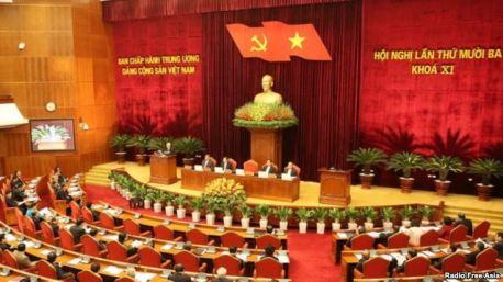 Hội nghị lần thứ 13 Ban Chấp hành Trung ương đảng CSVN. Photo: RFA
