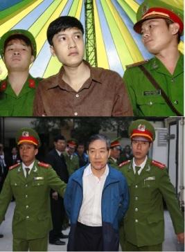 Nguyễn Hải Dương (ảnh trên) và Dương Chí Dũng trong ngày ra tòa. Nguồn ảnh: internet