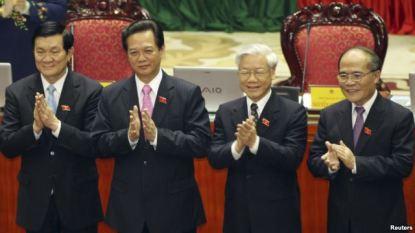 Tứ trụ triều đình: Hùng, Dũng, Sang, Trọng. Nguồn ảnh: Reuters.