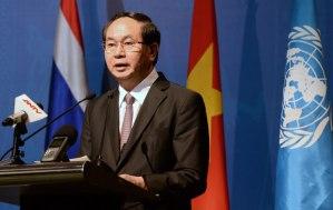 Đại tướng Trần Đại Quang, Bộ trưởng Bộ Công an Việt Nam, có thể đảm nhận chức Chủ Tịch Nước. Photo: AFP