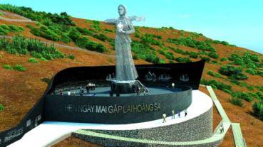 """Luật sư Cù Huy Hà Vũ cho rằng việc xây Khu tưởng niệm Nghĩa sĩ Hoàng Sa trên đảo Lý Sơn, Quảng Ngãi, là chỉ dấu """"phục thiện"""" của chính phủ VN. Ảnh: báo Tuổi Trẻ"""