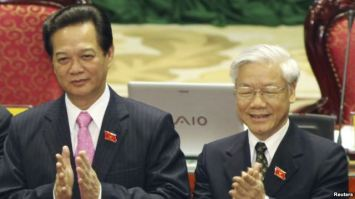 Cuộc đua giành chức tổng bí thư giữa ông Nguyễn Tấn Dũng và Nguyễn Phú Trọng được coi là sẽ 'gay cấn đến phút chót'. Photo: Reuters