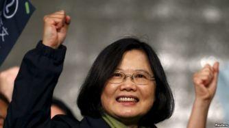 Nữ Tổng thống đầu tiên của Đài Loan Thái Anh Văn. Ảnh: Reuters