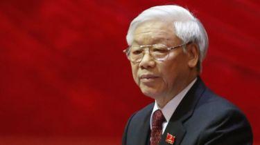 """Việc giới thiệu TBT Nguyễn Phú Trọng ở lại vào chức TBT là """"mang tính kế thừa"""", tướng Võ Tiến Trung trả lời báo chí hôm 23/1. Photo: Getty"""