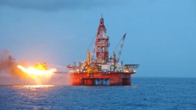 Giàn khoan Hải Dương 981 của Trung Quốc trên Biển Đông. Ảnh tư liệu/ Petrotimes