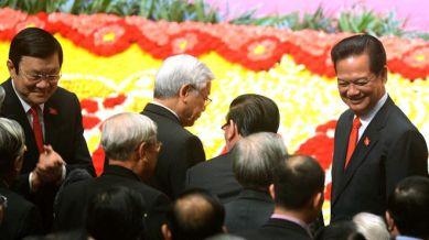 Cả Thủ tướng Nguyễn Tấn Dũng và Chủ tịch Trương Tấn Sang đều xin rút lui khỏi danh sách đề cử và đã được Đại hội đồng ý. Ảnh: AFP