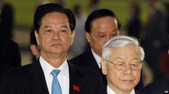 Kết quả cuộc biểu quyết cho thấy Thủ Tướng Dũng không giành được hơn 50% số phiếu để được đề cử vào Ban Chấp Hành Trung Ương hầu có thể cạnh tranh giành chức Tổng Bí Thư với ông Nguyễn Phú Trọng. Ảnh: AP