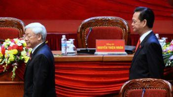 Đại hội đã chấp thuận đơn xin rút lui của ông Dũng vào chiều 25/1. Ảnh: Hoang Dinh Nam AFP