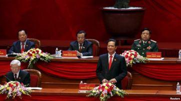 Thủ tướng Nguyễn Tấn Dũng phát biểu trong buổi lễ khai mạc Đại hội Đảng toàn quốc lần thứ 12 tại Hà Nội, ngày 21/1/2016. Ảnh: Reuters