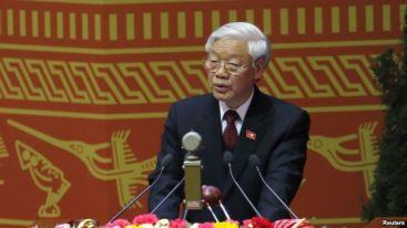 Ông Nguyễn Phú Trọng, Tổng Bí thư Đảng Cộng sản Việt Nam, đọc diễn văn trong lễ khai mạc Đại hội đảng 12 tại Hà Nội, ngày 21/1/2016. Photo: Reuters.