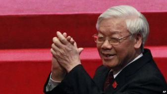 Ông Nguyễn Phú Trọng tiếp tục giữ chức Tổng bí thư. Ảnh: AP