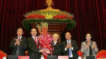 Ông Nguyễn Phú Trọng sinh năm 1944 tái cử chức Tổng Bí thư Đảng CSVN tại Đại hội 12 hôm 27/01/2016. Photo: EPA