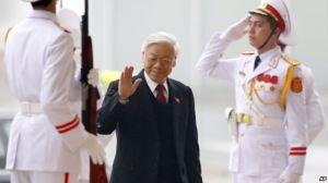 Ông Nguyễn Phú Trọng, 72 tuổi, thuộc phe thân Bắc Kinh, đã giành được chức vụ lãnh đạo một lần nữa sau khi đánh bại Thủ tướng Nguyễn Tấn Dũng. Photo: AP