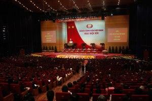 Đại hội Đảng Cộng sản Việt Nam lần thứ 12 hôm khai mạc 21/1 tại Hà Nội. Photo: AFP.