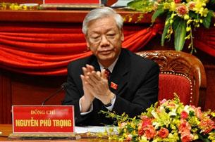 Ông Nguyễn Phú Trọng. AFP PHOTO/Hoang Dinh Nam