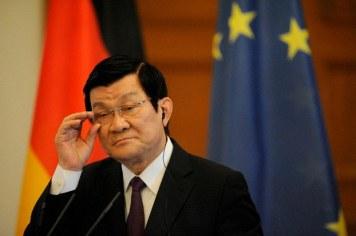 Chủ tịch VN Trương Tấn Sang. Theo Gs. Zachary Abuza, việc ông Sang ra đi là một tổn thất cho Việt Nam. Photo: RFA files