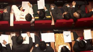Các đại biểu tham dự lễ khai mạc Đại hội lần thứ 11 của Đảng Cộng sản Việt Nam tại Hà Nội (Ảnh tư liệu). Photo: AP