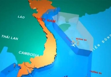 Đồ họa tàu bay của Trung Quốc đi vào FIR Hồ Chí Minh. Ảnh: VTV.