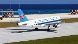 Trung Quốc đã tiến hành 46 chuyến hạ cánh của máy bay tại khu vực Trường Sa, trên Biển Đông, theo truyền thông Việt Nam. Nguồn: Xinhua