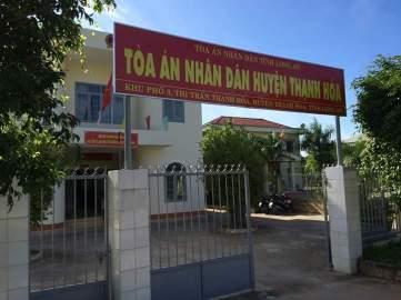 Tòa án Nhân Dân huyện Thạnh Hóa, nơi xét xử em Nguyễn Mai Trung Tuấn vào ngày mai. Ảnh: FB Khanh Lam Nguyen