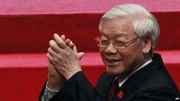 Đại hội 12 đã bầu ông Nguyễn Phú Trọng làm Tổng bí thư cho nhiệm kỳ thứ hai. Photo: AP