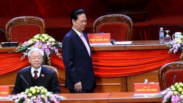 Hai ông Nguyễn Phú Trọng và Nguyễn Tấn Dũng. Photo: AFP.